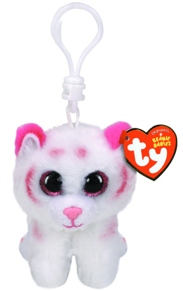 Tabor the Pink and White Tiger Clip Beanie Boo