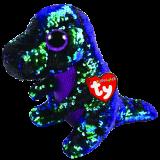 Crunch the Green & Purple Dinosaur Medium Flippable