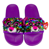 Dotty the Multicoloured Leopard Sequin Slides Large