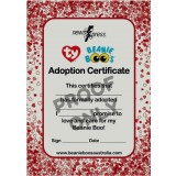Beanie Boo Adoption Certificates