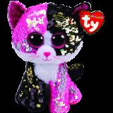 Malibu the Pink & Black Cat Regular Flippable