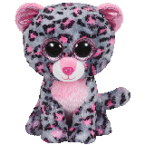 Tasha the Pink & Grey Leopard (medium)