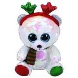 Mistletoe the Bear with Antlers Christmas Regular Flippable