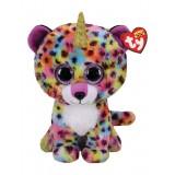 Giselle the Multicoloured Leopard with Horn Medium Beanie Boo