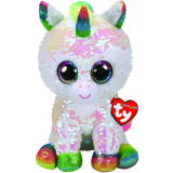 Pixy the White Unicorn Medium Flippable