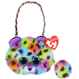 Giselle the muticoloured Leopard Mini Purse