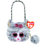 Kiki the Grey Cat Mini Purse