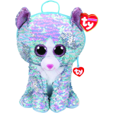 Whimsy the Blue Cat Sequin Backpack