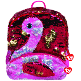 Gilda the Pink Flamingo Sequin Square Backpack