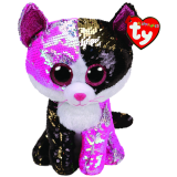 Malibu the Pink & Black Cat Medium Flippable