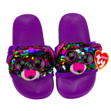Dotty the Multicoloured Leopard Sequin Slides Small