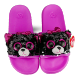 Kiki the Grey Cat Sequin Slides Large