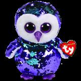 Moonlight the Purple Owl Medium Flippable
