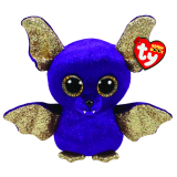 Count the Purple Bat with Wings Halloween Regular Beanie Boo