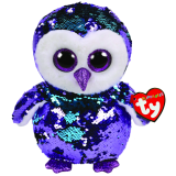 Moonlight the Purple Owl Medium Flippable