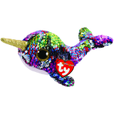 Calypso the Multicoloured Narwhal Regular Flippable