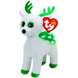 Peppermint the White Reindeer Beanie Babies Christmas