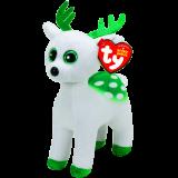 Peppermint the White Reindeer Beanie Babies Christmas