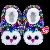 Owen the Multicoloured Owl Slippers Medium