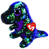 Crunch the Green & Purple Dinosaur Medium Flippable