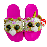 Fantasia the Multicoloured Unicorn Sequin Slides Small