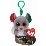 Chipper the Mouse Christmas Clip Beanie Boo