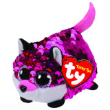 Jewel the Pink Fox Sequin Teeny Tys