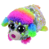 Rainbow the Multicoloured Poodle Sequin Teeny Tys