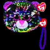 Dotty the Multicoloured Leopard Sequin Wristlet Ty Fashion