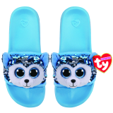 Slush the Dog Sequin Slides Medium